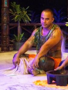 Fatu at the Kava Ceremony
